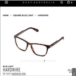 Quay Australia Hardwire Blue Light Glasses Tort
